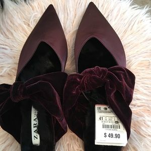 NWT Zara Backless Mules - Special Edition